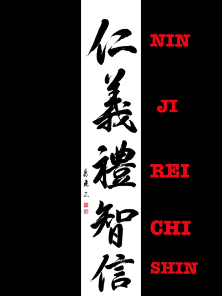 GO JO: caligrafía de Pascal Krieger Sensei (estilo semicursivo)